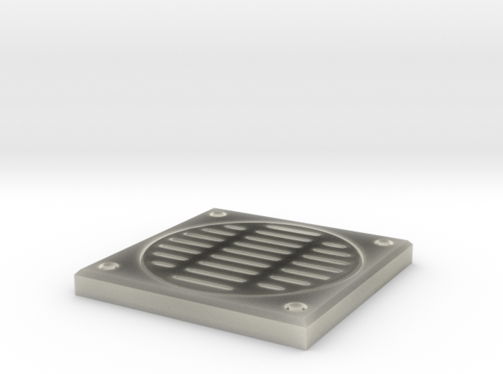 Square storm drain 3d printed