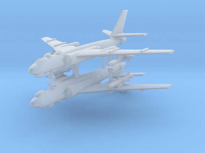1/700 TU-16 Badger (x2) (Landing Gear Down) 3d printed