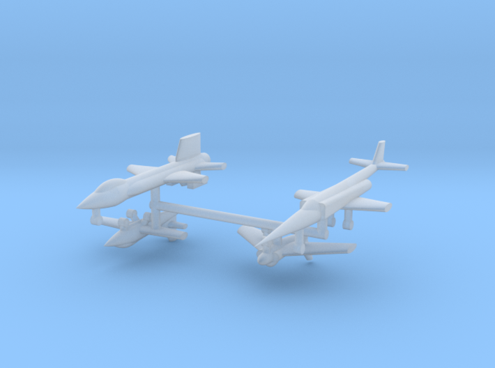 1/700 Experimental Aircraft Set 1 3d printed
