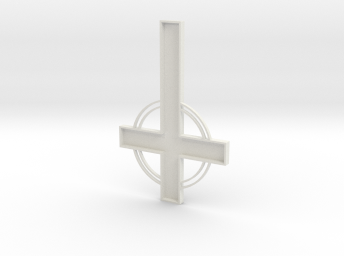 "cross 6"" tall w.i.p. 3d printed"