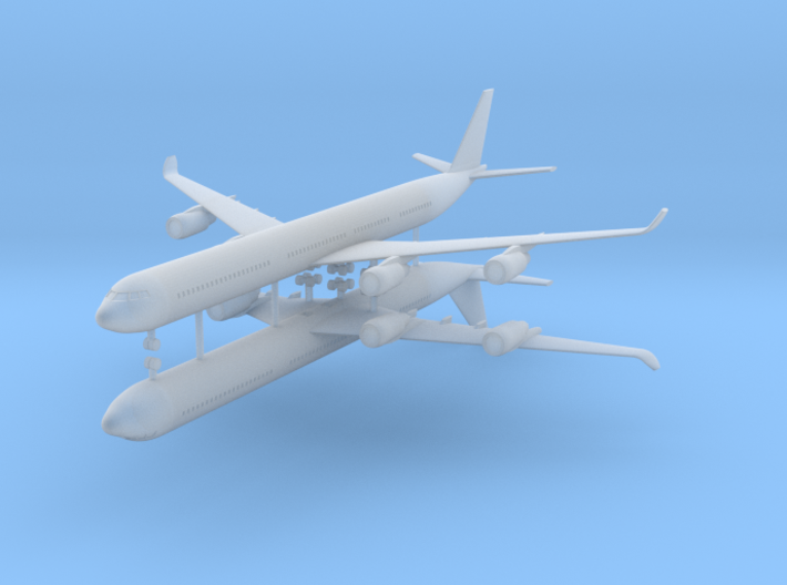 1/700 Airbus A340-600 Commercial Aircraft (x2) 3d printed