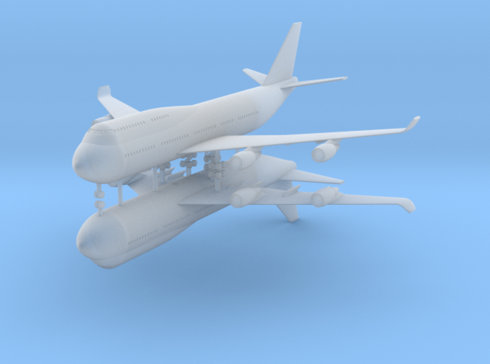 1/700 Boeing 747-400 Commercial Airliner (x2) 3d printed