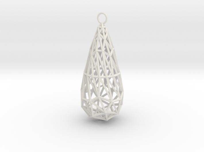twisted teardrop lattice earring 1 3d printed