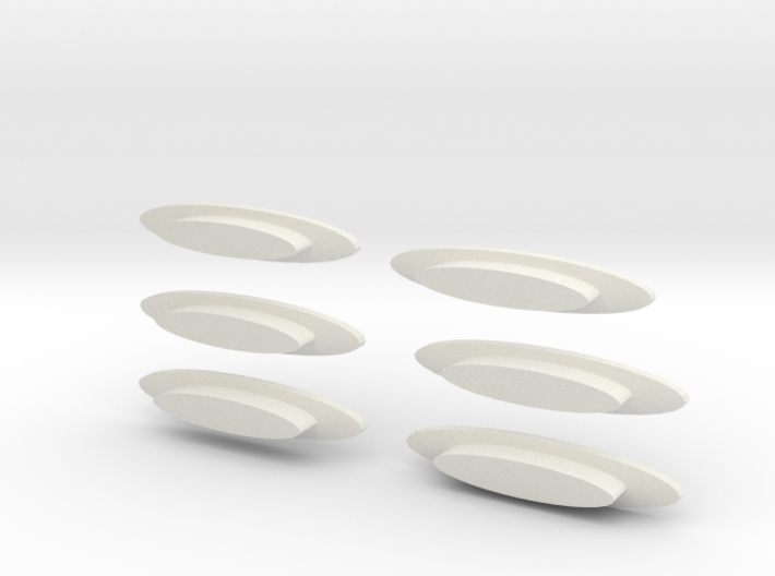 """Modern decorative """"surfboard"""" benches 6 pack 3d printed"""