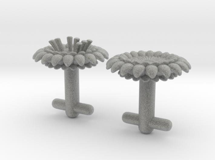 Braille cufflinks flower 3d printed