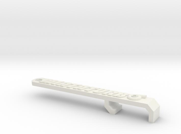 Miata Turbo Keychain - Design B - Raised 3d printed