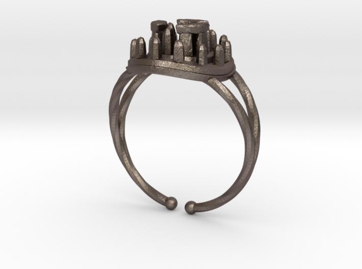 Stone Circle Ring 3d printed