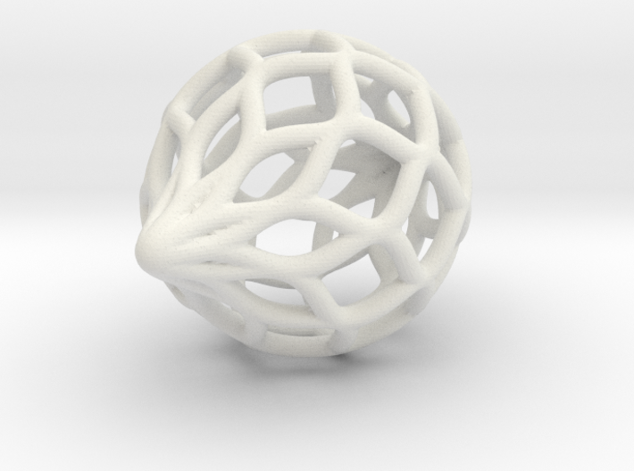 Netted Ornament 3d printed