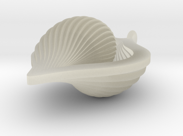 Shell Ornament 2 (revised) 3d printed