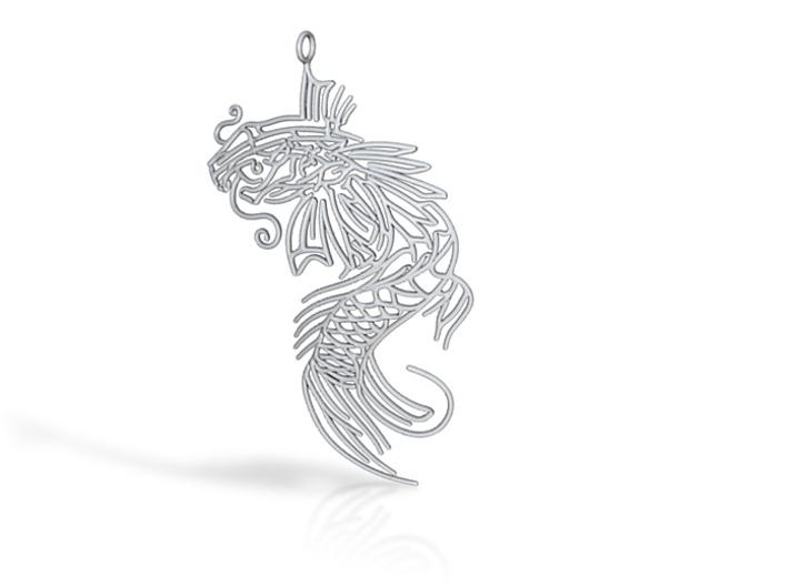 Carp pendant 3d printed