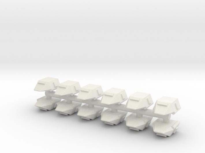 GDAC001 Basic Shuttles (Sprue x 12) 3d printed