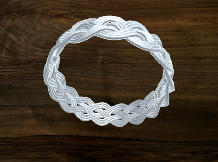 Turk's Head Knot Ring 4 Part X 16 Bight - Size 26. 3d printed