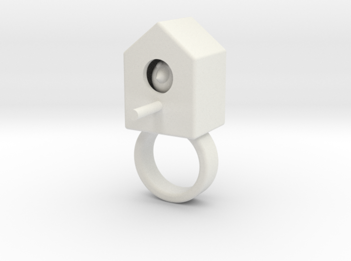 vincent birdhouse white strong 3d printed