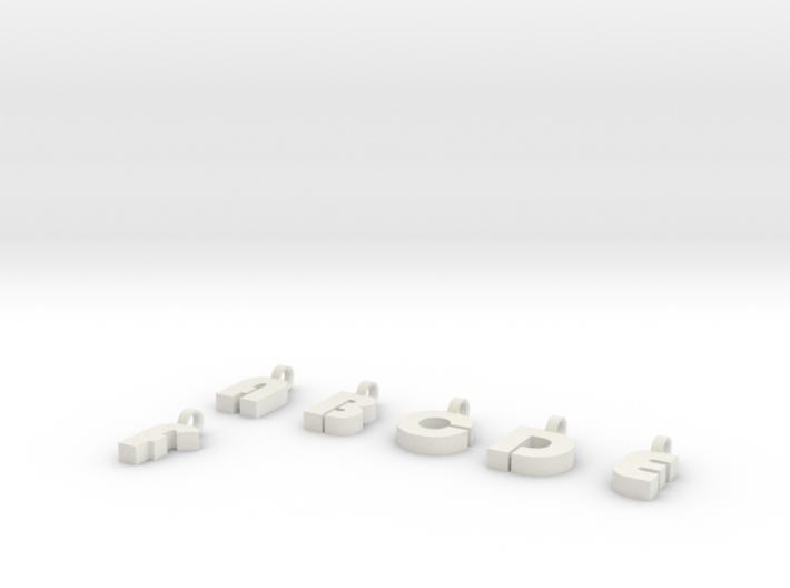 5-6 Char Glass Charm 3d printed