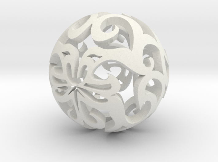 Curlicue ball 1 small 3d printed