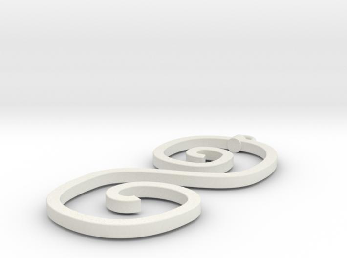 Curvy Pendant 3d printed