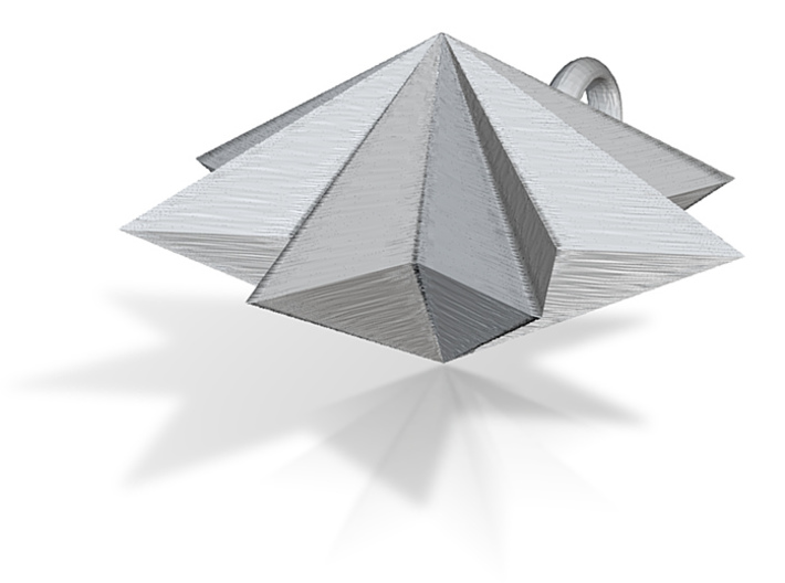 pyramid 8star charm 3d printed