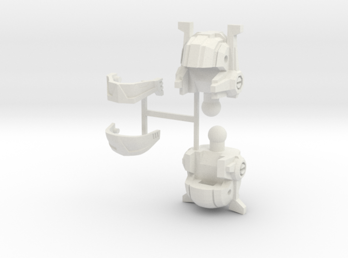 Broadcaster Heads 3d printed