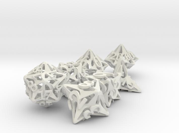 Pinwheel Dice Set with Decader 3d printed