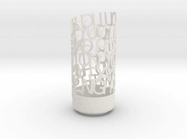 Light Poem Parents spiral (space removed) 3d printed