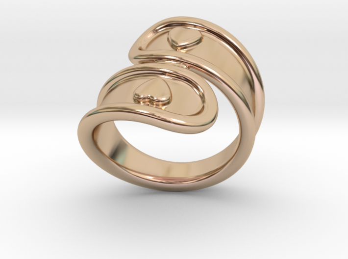 San Valentino Ring 21 - Italian Size 21 3d printed