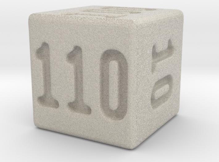Binary 110-Sided Die 3d printed