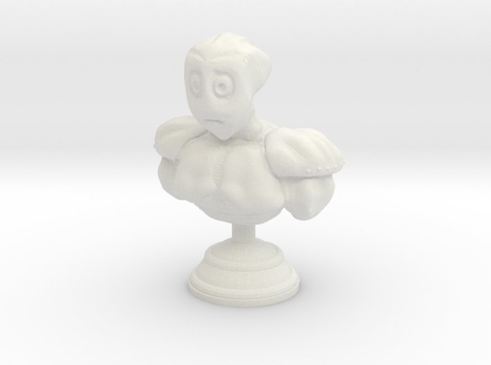 Sad Alien Bust 3d printed