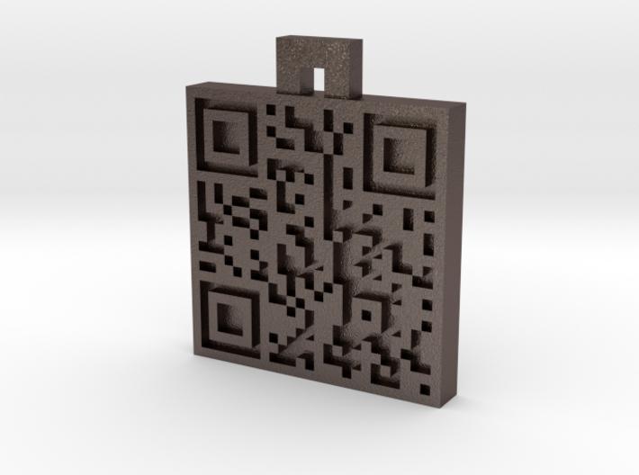 QR steel tag / business card 3d printed