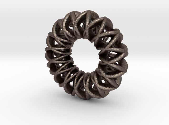 2 strand double mobius charm bead 3d printed