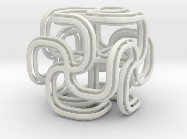 Crusty spiral cross cube 3d printed