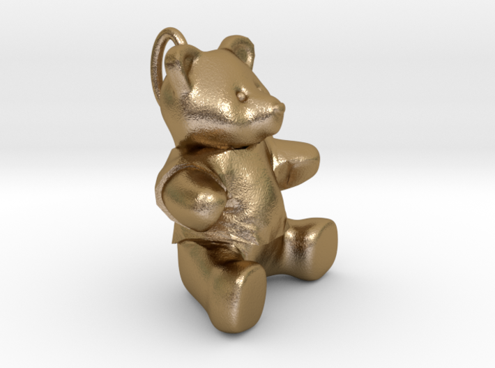 Teddy bear pendant 3d printed