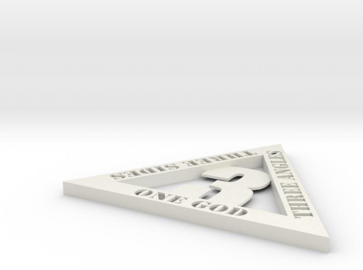 Triangulon (thinner, hollow) 3d printed