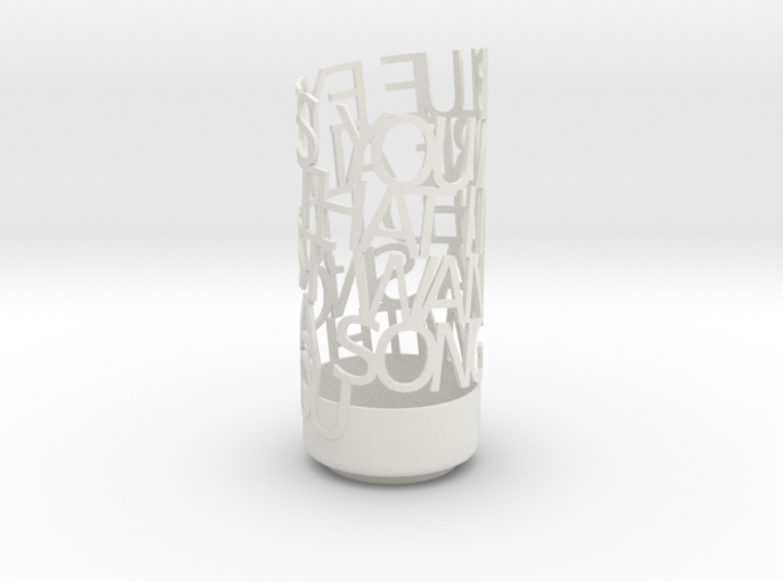 Light Poem 3d printed
