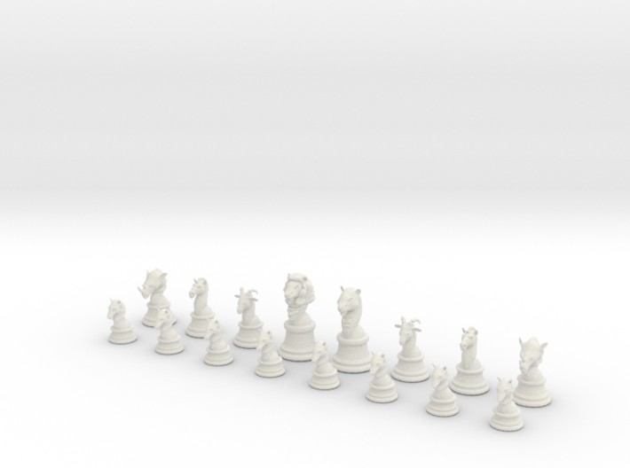 Chess Set (one player side) - Animal Kingdom 3d printed
