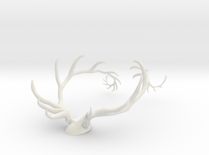 Antler Set w/Backing 3d printed