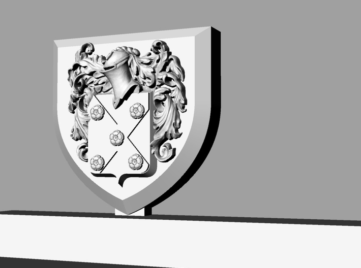 Knife holder with shield and coat of arms 3d printed details of the coat of arms