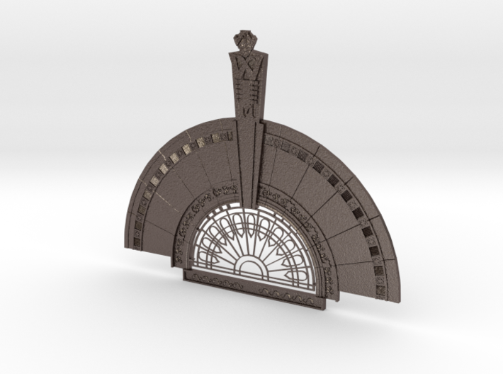 Art Deco brooch 3d printed