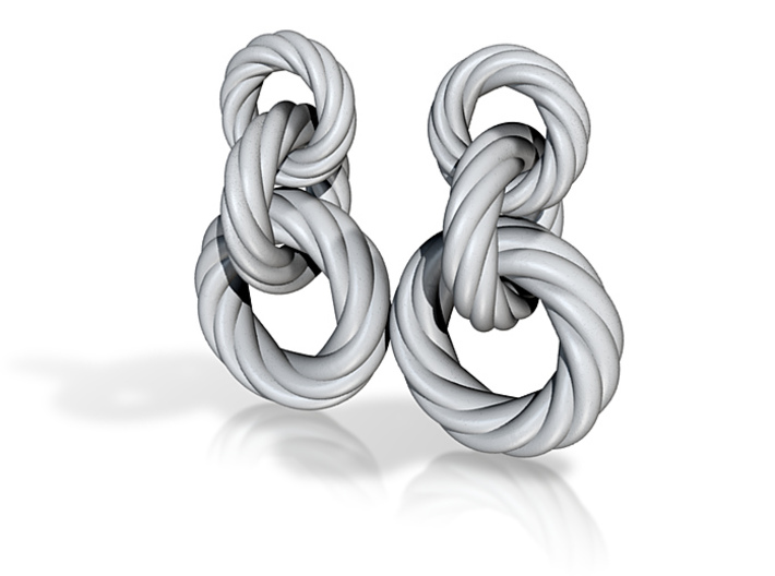 Rope Earrings 3d printed