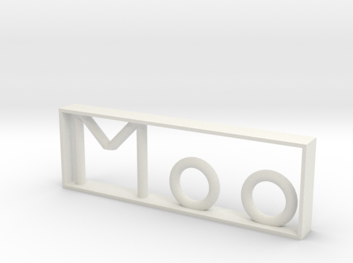 Moo, Scaled 3d printed