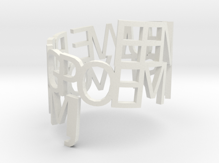 Ring Poem test 1 3d printed