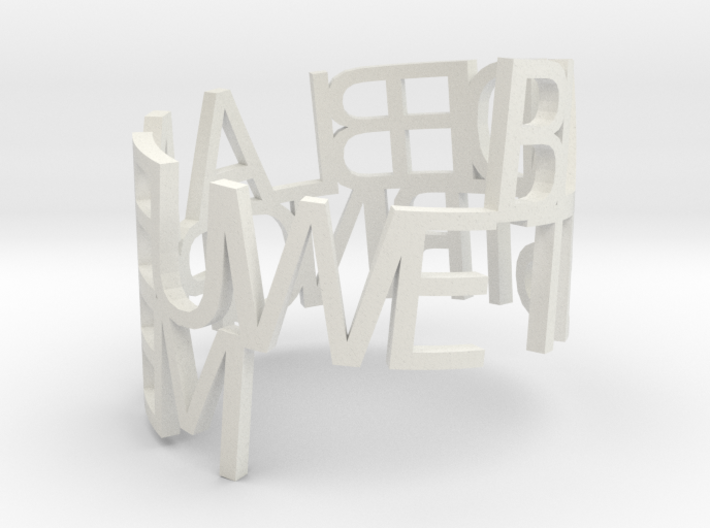 Ring Poem test1 3d printed
