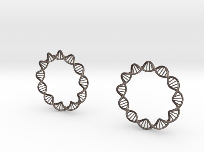 Virus DNA earings 3d printed