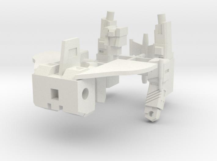 Silver Jet Robo 3d printed