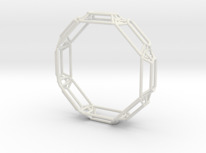 Interconnected Stones Bangle 3d printed