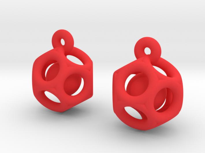 Dod Earrings w/ Spheres 3d printed