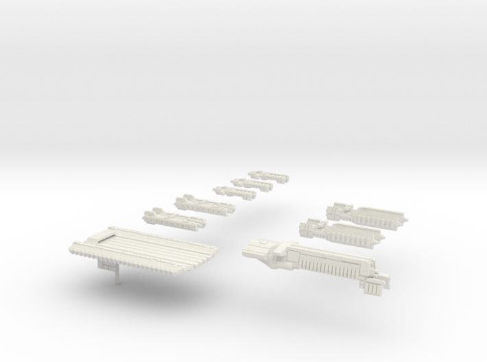 Fleet Scale Series 1: The entire Terran fleet 3d printed