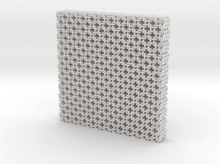 Square Maille flat N coasters (4) 3d printed