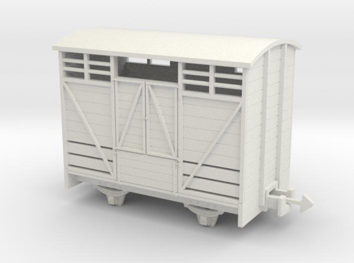 OO9 Cattle van Paneled door 3d printed