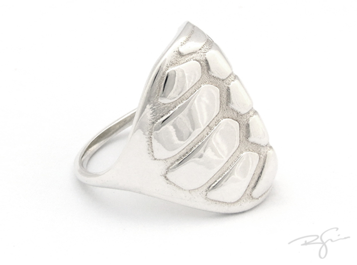 TORTOISE 3d printed POLISHED SILVER