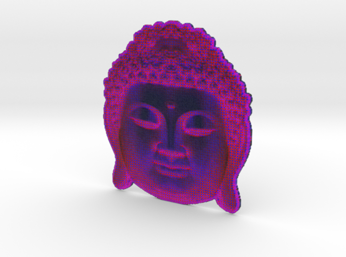 BigBuddhaheadpurple 3d printed